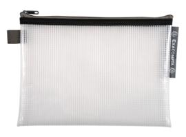 Transparante Zipperbags ft A5   Zwart