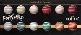 Finetec / Coliro Set met 12 Pearl Colors en Shimmer-Pearl Colors Ø 23mm
