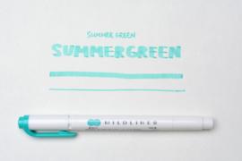 Zebra Mildliner Double-Sided Highlighter - Fine / Bold – Mild Summer Green