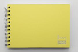 A5 Tekenblok / Schetsboek 70 Vel 120g/m² Blanco Wit Papier. Omslag Geel