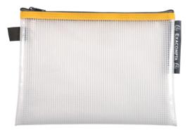 Transparante Zipperbags ft A5   Geel
