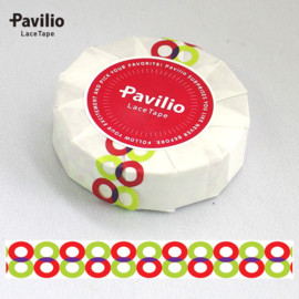 Pavilio Lace Washi Tape - Twins Red