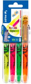 Pilot FriXion Light Textmarker - Set van 4 met Set 2 Go Houder
