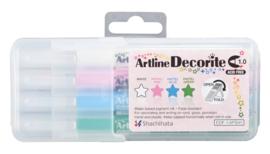 Artline  Decorite Pastel  Markers Set van 4