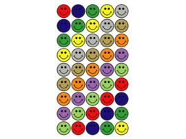 Purple Peach Sticker Smiley