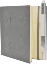LEGO® 2.0 Locking Notebook kleur Grijs met een  LEGO® Gel  Pen