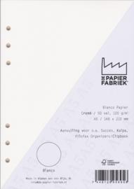 Aanvulling A5 geschikt voor o.a. Filofax, Succes Losbladige Planners 50 Vel, 120g/m² Blanco Crème Papier