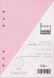 Aanvulling A5 geschikt voor o.a. Filofax, Succes Losbladige Planners 50 Vel, 120gr/m² Dotted Licht Roze Papier