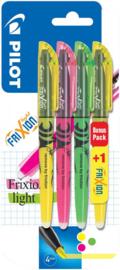 Pilot Frixion Light Highlighter Bonus  Pack 3 + 1 GRATIS