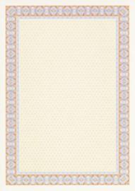 Diploma / Certificaat Papier  Spiraal Oranje,   25 Vel Formaat A4  = 210 x 297mm 115g/m²