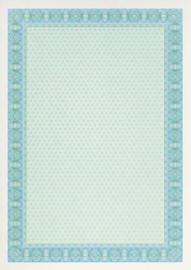 Diploma / Certificaat Papier  Spiraal Blauw,   25 Vel Formaat A4  = 210 x 297mm 115g/m²
