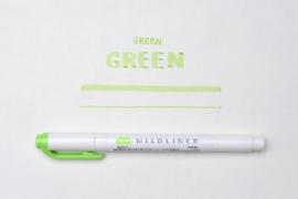 Zebra Mildliner Double-Sided Highlighter - Fine / Bold - Mild Green