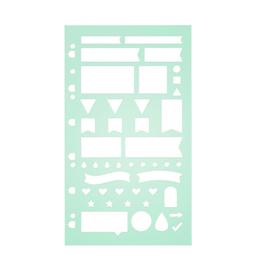 A5 Filofax Planning Stencil