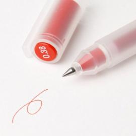 MUJI Gel Pen -  Kleur Inkt Rood  - 0.38mm