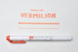 Zebra Mildliner Double-Sided Highlighter - Fine / Bold – Mild Vermilion