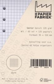 Senior Ruitjes Wit 120g/m² Papier - 60 Vel = 120 Pagina's