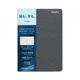 Maruman N1491 Glyphy Notebook - A6 - Gelinieerd Writing Paper - 48 Pagina's