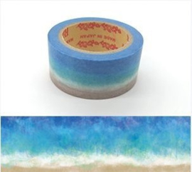 """Rink Washi Tape  - Watercolored Design """"Wave"""""""
