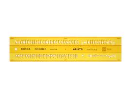 Lettersjabloon Aristo 3,5mm H-profiel Schriftvorm B Recht | # AR-5301/3