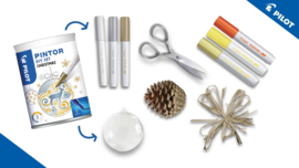Pilot Pintor - Set DIY Kerst - Inclusief 3 Markers - Fine Tip