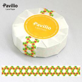 Pavilio Lace Washi Tape - Geel