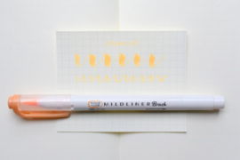 Zebra Mildliner Brush Pen - Mild Orange