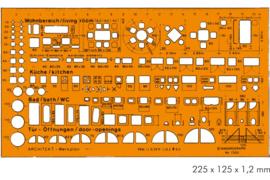 Architect's Combination  1:50  Sjabloon    # 7302