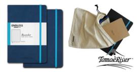 Endless Recorder Bullet Journal / Notebook met Tomoe River Paper, Kleur omslag: Blauw