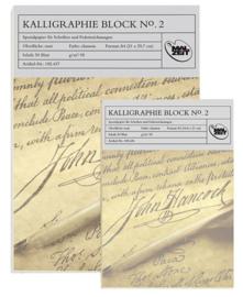 Kalligrafieblok  Crèmekleurig formaat A4