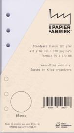 Standaard / Personal formaat 170 x 95mm  Blanco Wit  120g/m² Notitiepapier 120 Pagina's