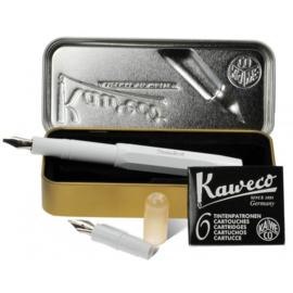 Kaweco Sport Calligraphy Pen Set in Metalen Doosje - Wit