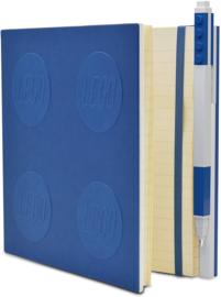 LEGO® 2.0 Locking Notebook kleur Blauw   met een LEGO® Gel  Pen