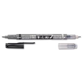 Tombow Fudenosuke Dubbelzijdige Brush Pen - GCD-121 Kleur Inkt: Zwart en Grijs