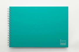 Handlettering / Schetsboek A4, 120 g/m² Dotted Wit Papier. Kleur omslag: Groen