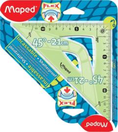 Driehoek Flex Maped 21 cm - 45°