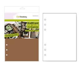 Aanvulling A5 geschikt voor o.a. Filofax, 6-Rings Losbladige Planners 12 Vel, 220g/m² Bruin Karton