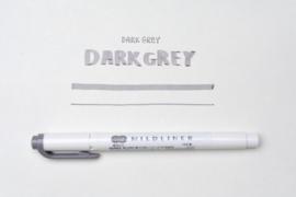 Zebra Mildliner Double-Sided Highlighter - Fine / Bold – Mild Dark Gray