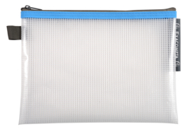 Transparante Zipperbags ft A5   Blauw