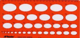 Ovaal Sjabloon Metrisch , Isometrisch    # 10312