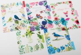 A5 Transparante PP Tabbladen 'Birds  in  Paradise'