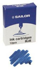 Sailor Set met 12 Inktpatronen – Blauw