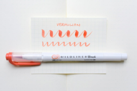 Zebra Mildliner Brush Pen – Mild Vermilion