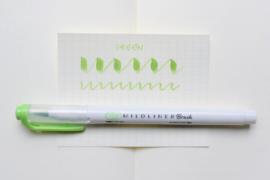 Zebra Mildliner Brush Pen - Mild Green