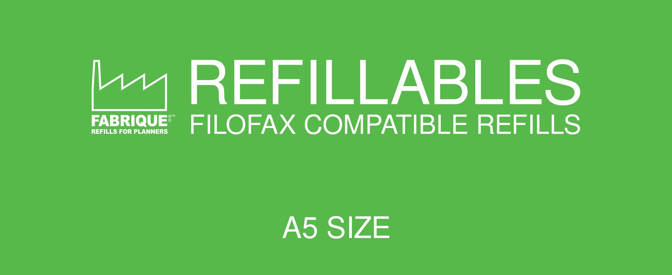Refillables Filofax