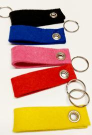 sleutelhanger met naam (5 kleuren beschikbaar)