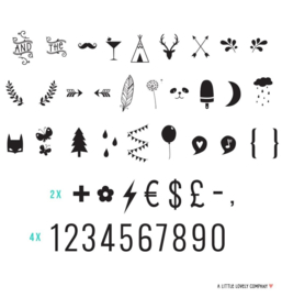 lightbox letterpack 85 numbers &  symbols