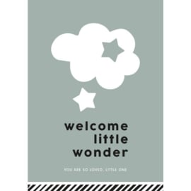 kaart 'welcome little wonder (you are so loved, little one)' salie