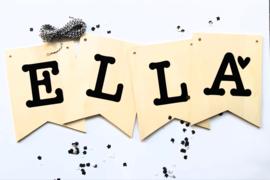 houten letter/naam vlaggetjes