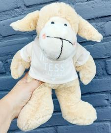 knuffel 'Sjapie' het schaap met shirt met naam
