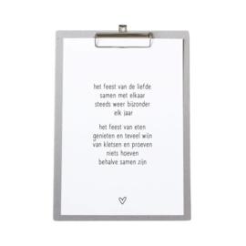 Zoedt poster feest van de liefde a4 op klembord